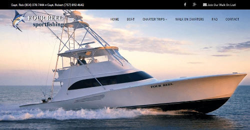 Thumbnail of Four Reel Sportfishing Charters Website Design by OBXOPS